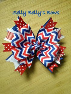 4th of July Hair Bow by SellyBellysBows on Etsy, $5.00