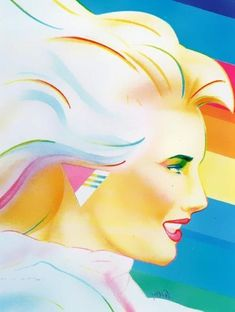 Love the colors in this! #80s #art
