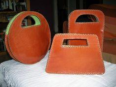 bolsos de cuero con piel de ante