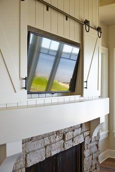 hidden mounted TV