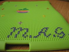 Customized Cross Stitch Ipad 2 Case FREE by handstitchedbyaylin, $40.00