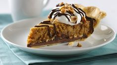 Treat your family with this delicious baked dessert! Enjoy this nutty chocolate pie made using Pillsbury® refrigerated pie crusts.