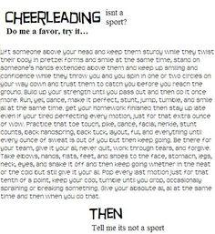 cheerleading isnt a sport persuasive essay