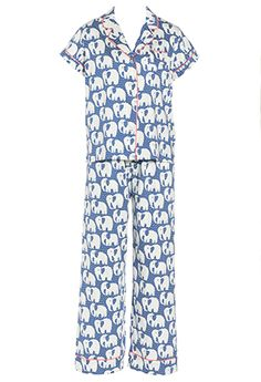 Image for Floral Elephant Pj Set from Peter Alexander