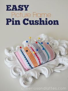 Easy Picture Frame Pin Cushion; a minute pin cushion that you can customize.jpg