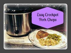 Easy Crockpot Pork Chops - Horseshoes & Hand Grenades crockpot pork, crockpotpork, pork chop, easi crockpot