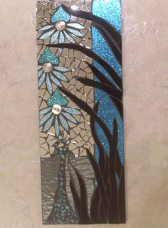 Floral Stained Glass Mosaic Wall Hanging