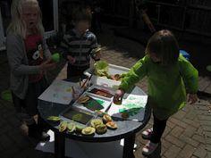 Vegetable Printing.   Pre-school Play