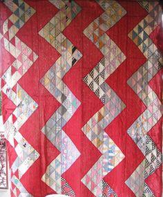 vintage Streak O' Lightening quilt from Hattiesburg, Mississippi