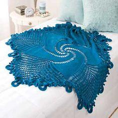 Blue Mandala Throw - Free #Mandala #Crochet Pattern Roundup http://www.mooglyblog.com/free-mandala-crochet-patterns/