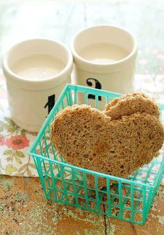 Heart Shaped Toast #hearts #breakfast #ValentinesDay FamilyFreshCooking.com