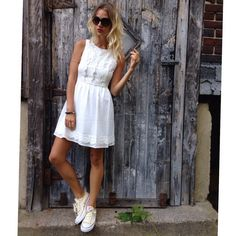 In love with this romantic, simple white lace dress from #tjmaxx