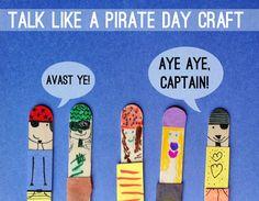 craft sticks, pirat craft, pirate crafts