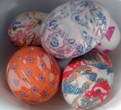 Tie Dyed Eggs #Easter