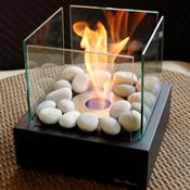 Bio Flame fireplaces come as wall-mounted, tabletop and free-standing. Uber sleek. Get creative with fire!