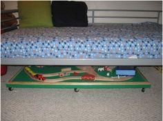 DIY Under bed train table.