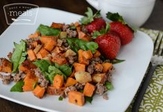 Roasted root vegetables are paired with comforting sausage and fresh ...