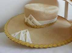 Kentucky Derby Vintage Straw Hat with Wide Brim by FrouFrou4YouYou, $100.00