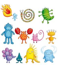 monsters  children's book illustration