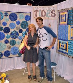 yo yo quilt - love the different size yo yo's...not sure who these people are,but I LOVE the quilt!!! <3
