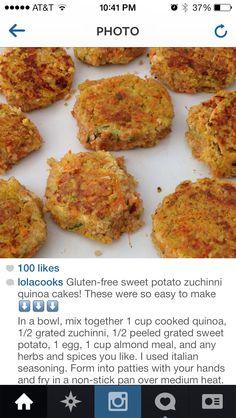 Sweet Potato Zucchini Quinoa Cakes