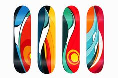 Tom Veiga Wave Series Skate Decks.