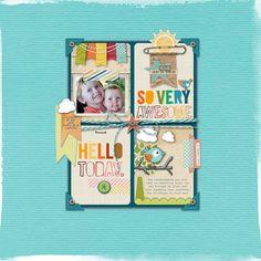 adorable #scrapbook page by Trace at DesignerDigitals.com #shopDesignerDigitals #boys #3x4journalcards