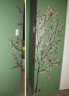 RoomMater & Facebook Contest Winner Jen L. put a creative twist on our Pink Blossom #walldecal #tree.