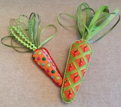 These are adorable!  Love these carrots with ribbon tops!! ~ canvases by Associated Talents