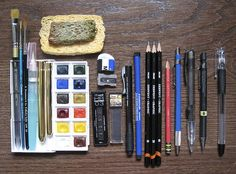 pencil case contents - March 26 2010 by adiscoville, via Flickr