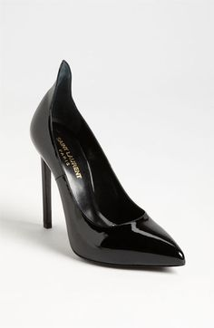 This shoe collar + a pair of French-heeled stockings = perfection. By Saint Laurent.