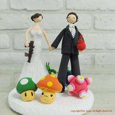 Game mania custom wedding cake topper decoration by annacrafts, $230.00