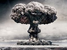 Atomic Bomb Explosion Captured clouds, atom, bombs, explosions, evil clown, wallpapers, cold war, mushrooms, clowns