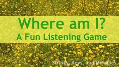 Another Fun Listening Game!