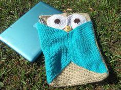 Owl Laptop Sleeve Crochet pattern