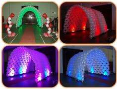 LINK-O-LOON® tunnel with special effect lighting. Too cool!