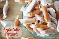 Apple Cider Caramels - what a delicious combination.