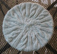 Free Knitting Pattern Cabled Beret : Hats on Pinterest