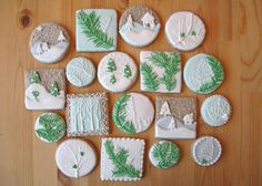 Snowy winter cookies for tha baking. So beautiful, too!