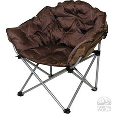 Who says a camping chair has to be uncomfortable???  Check out this bad mammo-jamma! #camping #outdoors