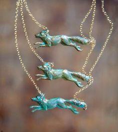 Brass Fox Necklace