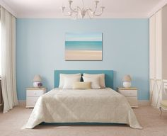 Canvas Gallery Wrap Abstract Photo of Ocean above headboard.