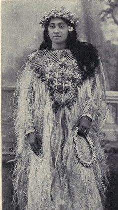 Tahitian woman in festive costume