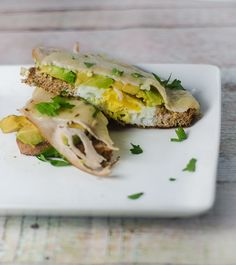 Avocado, Turkey and Pepper Jack Breakfast Sandwich