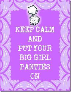 Big Girl Panties Printable