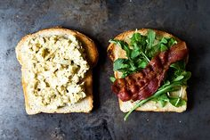 Bacon and Egg Salad Sandwich + 8 Other Ways to Use Leftover Hard Boiled Eggs on Food52: http://f52.co/1hTTYex. #Food52