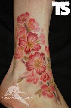 cherri, tattoo ideas, feet tattoos, watercolor tattoos, tattoo patterns