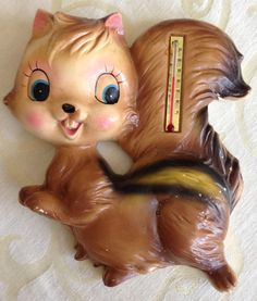 Vintage Squirrel Thermometer 60s or 70s Retro by LorisBoutique, $29.99