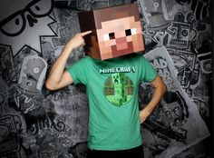 minecraft, halloween costumes, costume ideas, mask, video games, geeks, parti, kid, birthday cakes