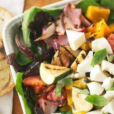 grilled veggies, veggie salads, main dish salads, grill veget, salad recipes, summer dinners, summer salads, grilled vegetables, cooking tips